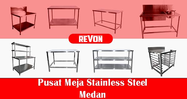Jual Meja Stainless Steel Medan Revon