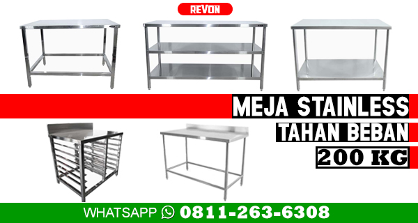 Jual Meja Stainless Steel Surabaya Fabrikasi Kitchen Set Resto Bakery