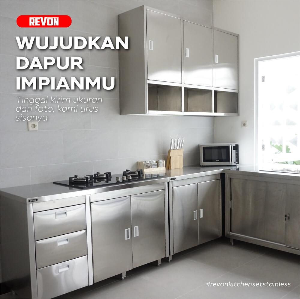 Kitchen Set Stainless Steel Jakarta Utara Rumah Restoran Revon
